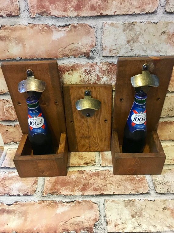 Bottle Opener, Reclaimed Wood