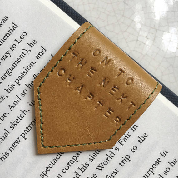 Magnetic Leather Bookmark